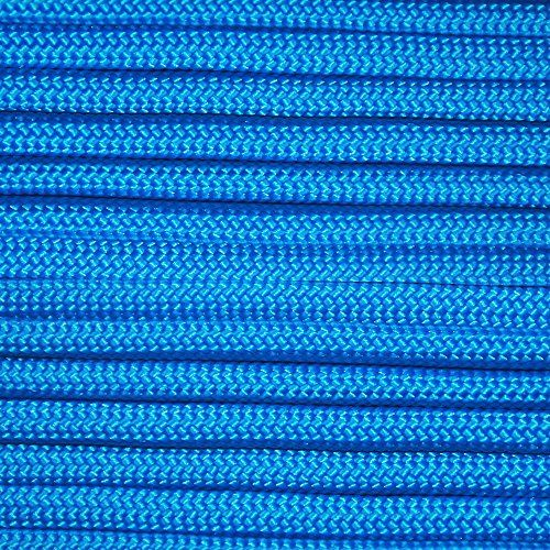 Blue 100' Paracord Hero 10' 20' 50' 100' Hanks Parachute 550 Cord Type III 7 Strand Paracord - Largest Paracord Selection. For product & price info go to:  https://all4hiking.com/products/blue-100-paracord-hero-10-20-50-100-hanks-parachute-550-cord-type-iii-7-strand-paracord-largest-paracord-selection/