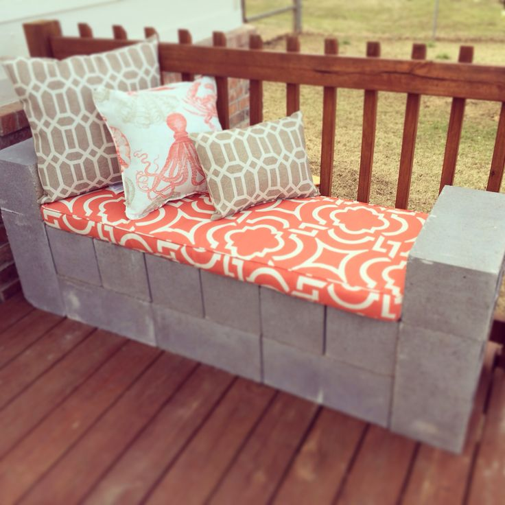 cinder blocks couch and diy and crafts on pinterest cinder block furniture backyard cinderblockbenchoutdoorfurnitureoutdoorlivingpatiojpgsize