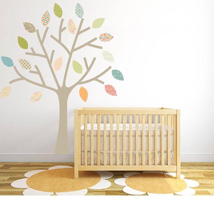 pastel tree fabric wall sticker by littleprints | notonthehighstreet.com