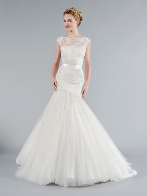 Tony Ward - Bateau A-Line Gown in Tulle