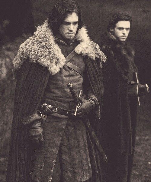 Game of thrones:Jon snow,and Robb stark,the two oldest stark brothers,I love Robb,but I love Jon more!!!!;)