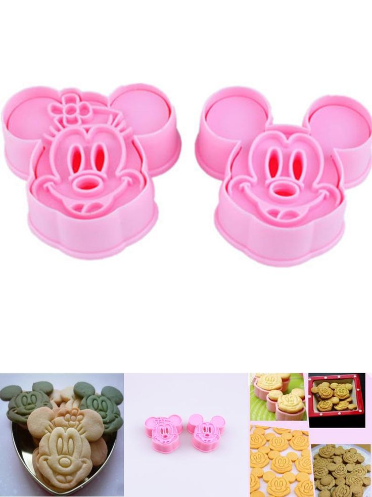 [Visit to Buy] 2pcs Mickey Minny Mouse Fondant Cake Cookie Biscuit Cutter Mold Mould Tools Set #Advertisement