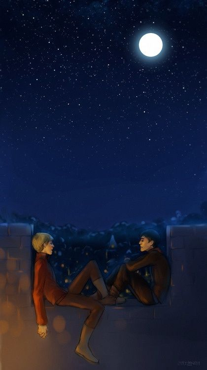 These two, would be fun to write about.   (Is it actually a Merlin fan art?)