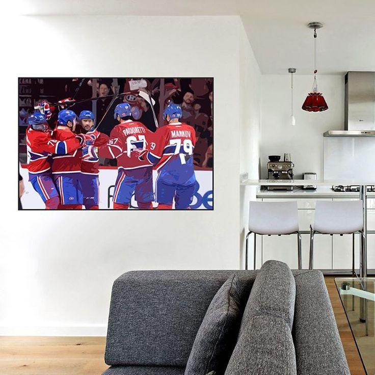 Final score 4-2 win for Montreal Canadiens last night vs Boston Bruins. Go Habs go ! #lovehockey #montrealcanadiens #montreal #boston #bostonbruins #canadiens #nhl #icehockey #hockey #gohabsgo #gameday #sport #canada #illustration #art #artwork #architecture #print #painting