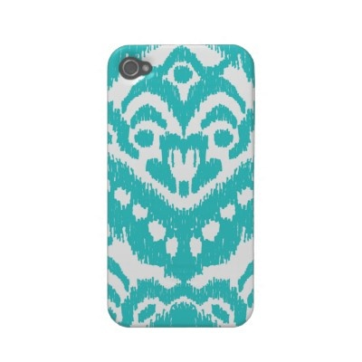 Megan Adams Zig Zag Ikat Turquoise Iphone 4covers $36.20
