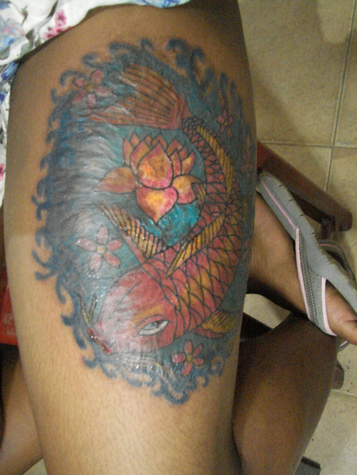 pez koi chozarte tattoo uraba ink