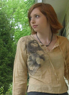 """Stencil and spray paint shirts. Another nice alternative to the t-shirt design project in the """"Self-Expression"""" chapter of the Teen SRP manual. (Check my other pins for teen-oriented stencils.)"""