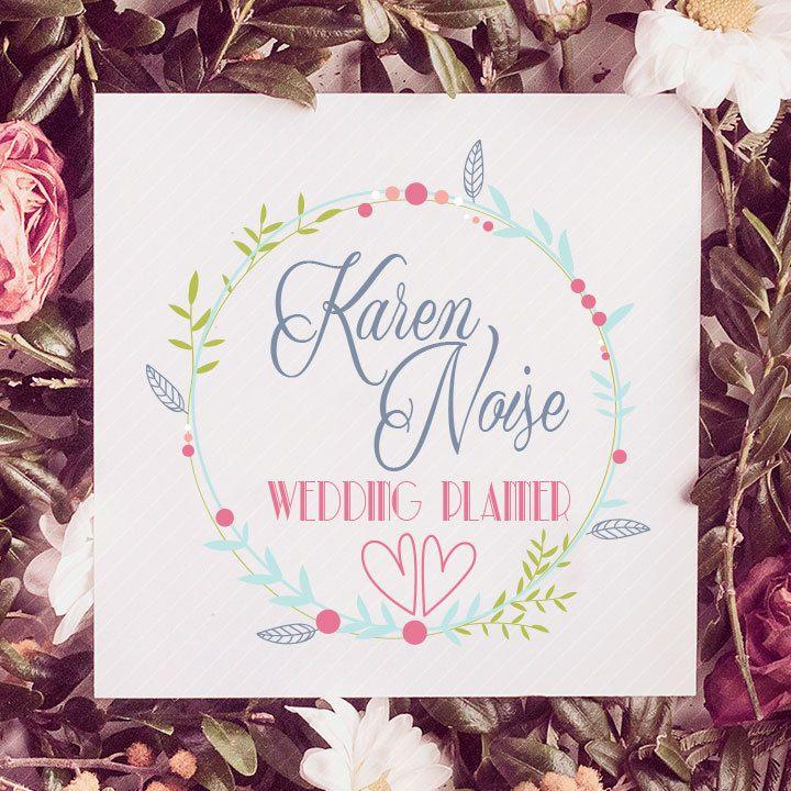 Pre-made logo design disegno modello di wedding planner - Premade Logo - Logo - Logo watercolor - filigrana - flowers -  Branding Logo di KappaGraphic su Etsy