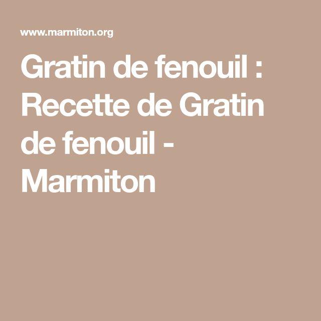 Gratin de fenouil : Recette de Gratin de fenouil - Marmiton
