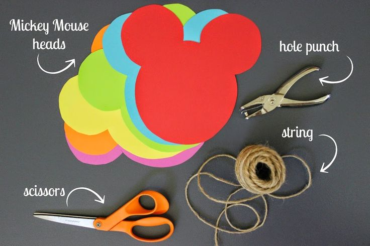 DIY Mickey Mouse Garland - Mendez Manor