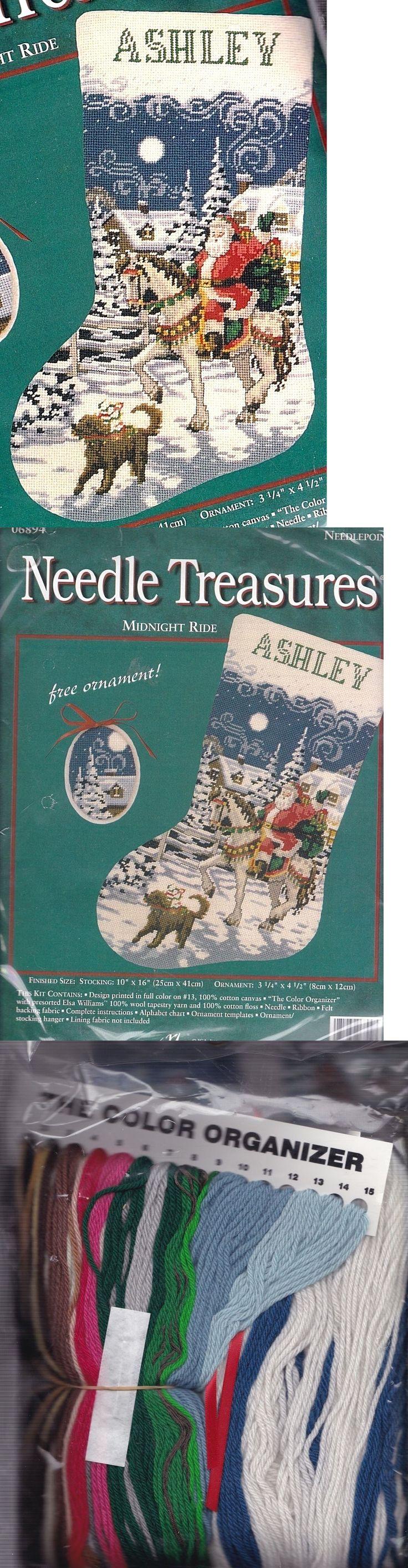 Other Hand Embroidery Kits 28142: Needle Treasures Midnight Ride Santa Horse Needlepoint Stocking Kit Nip 06894 -> BUY IT NOW ONLY: $239.95 on eBay!