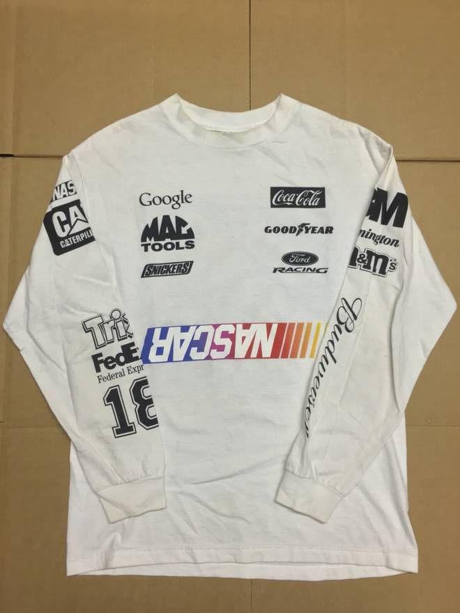 79951ff1491 Heron Preston BOOTLEG HOME DEPOT NASCAR DEFECT LONGSLEEVE TEE T SHIRT WHITE  SZ M Size US M / EU 48-50 / 2