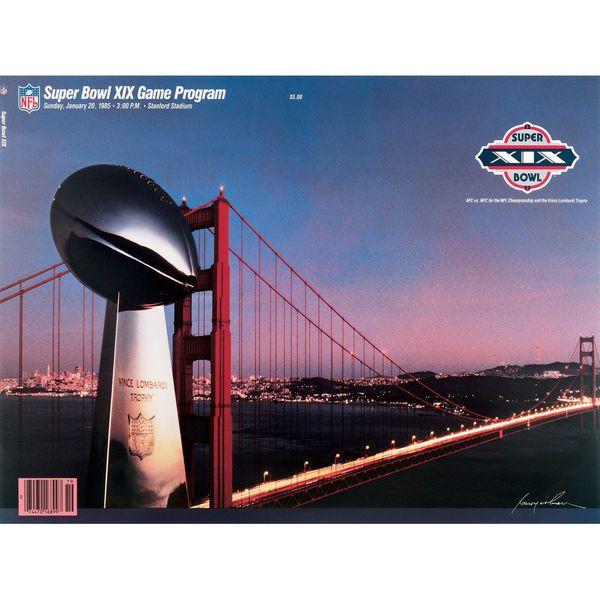 "Fanatics Authentic 1985 49ers vs. Dolphins 36"" x 48"" Canvas Super Bowl XIX Program - $199.99"