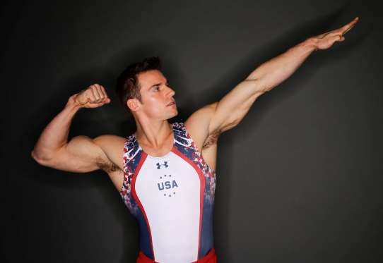 Gymnast Sam Mikulak poses for photos at the 2016 Team USA Media Summit Monday, March 7, 2016, in Bev... - Jae C. Hong/AP