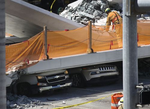 Bridge collapses at Florida International University in...   Bridge collapses at Florida International University in Miami  Several people were killed and cars crushed when a newly installed pedestrian bridge spanning several lanes of traffic collapsed at Florida International University in Miami-Dade County officials said. There were at least five to six vehicles crushed underneath the pedestrian crosswalk.  The bridge connects the university with the city of Sweetwater and was installed on…