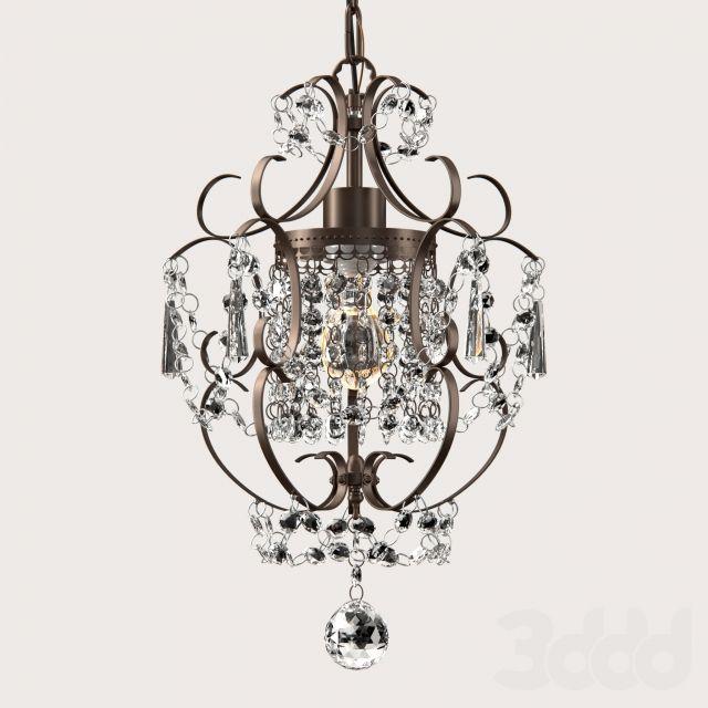 3d модели: Люстры - Rosalie 1-light Antique