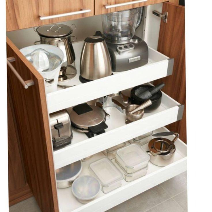 """687 Beğenme, 3 Yorum - Instagram'da Thinks for life (@thinksforlife): """"Küçük mutfak eşyalarını saklamak için ne güzel bir fikir. Hepsi ayni yerde, düzenli ve pratik bir…"""""""