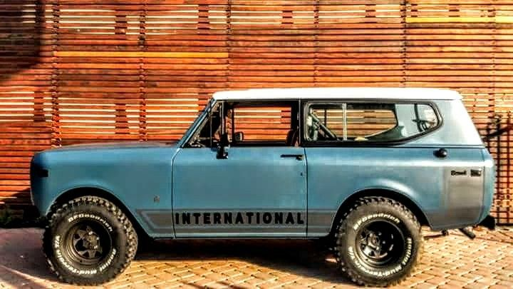 International Harvester Scout 2 Satin Blue Bed Liner Textured Body Protection Rustygr International Scout International Scout Ii International Harvester Scout