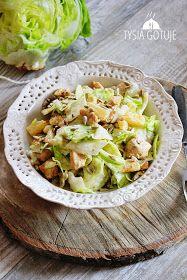 Tysia Gotuje blog kulinarny: Pyszna sałatka z kurczakiem i ananasem