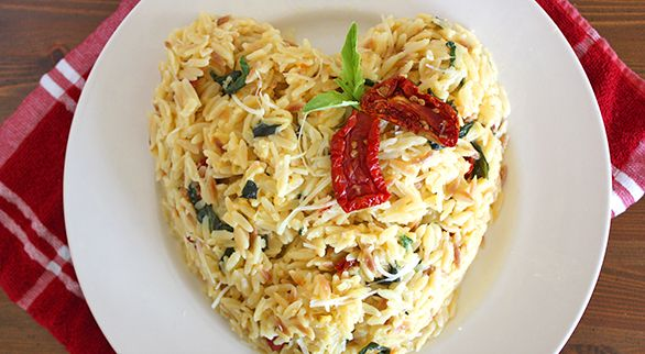 Orzo with Basil, Parmesan & Sun-Dried Tomatoes | Recipe
