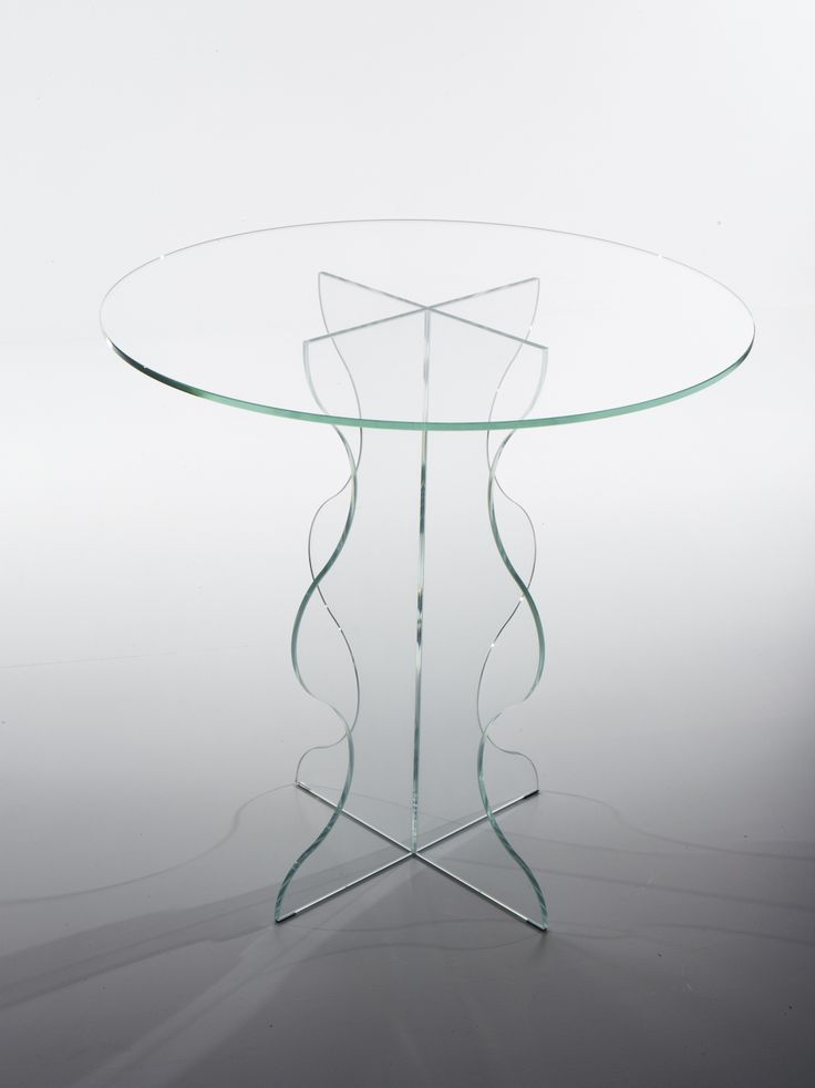 ONDE. Table in extra-clear crystal.