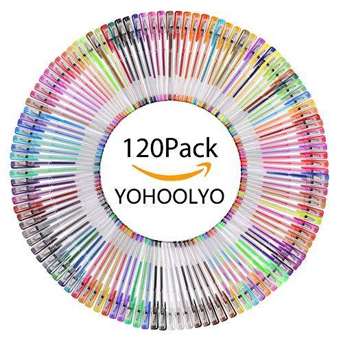 YOHOOLYO 120pcs Bolígrafos de Gel Bolígrafo de Tinta Bril... https://www.amazon.es/dp/B072WPTRYX/ref=cm_sw_r_pi_dp_x_9dJDzb6C8EYR8
