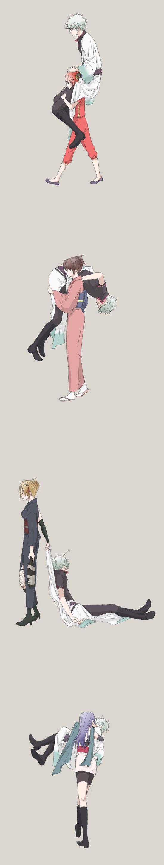 Gintama nữ chính có dàn harem khủng, toàn mấy chị đẹp trai ga lăng, lạnh lùng...