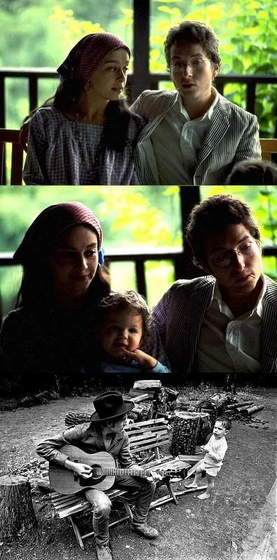 ♡♥Bob with his wife Sara and their baby Anna - click on pic to see a larger pic and many other larger pics of Bob Dylan's family and their 4 children♥♡