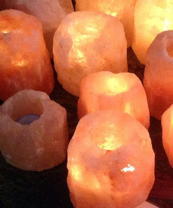Himalayan Rock Salt Candle Holder.  Each one unique on Etsy, $12.04