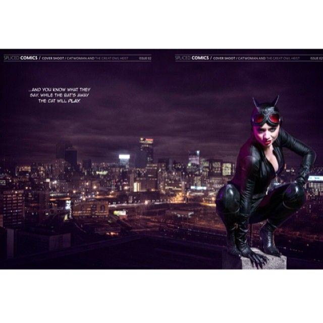 our catwoman outfit for spliced mag, worn by ana trujic, shot by Tim Hlume