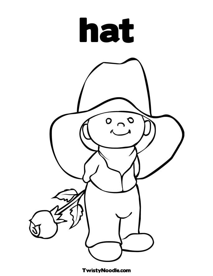 Cowboy Hat Coloring Pages Printable