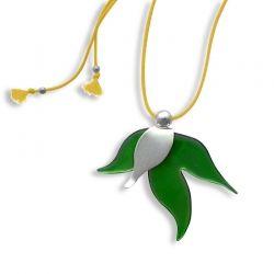 Floral/ Folded leaf pendant/ Jewelietta