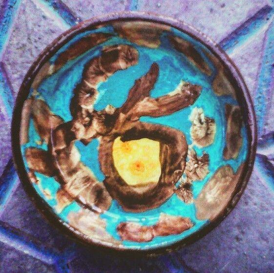 Κεραμικο πιατο ζωγραφισμενο στο χερι
