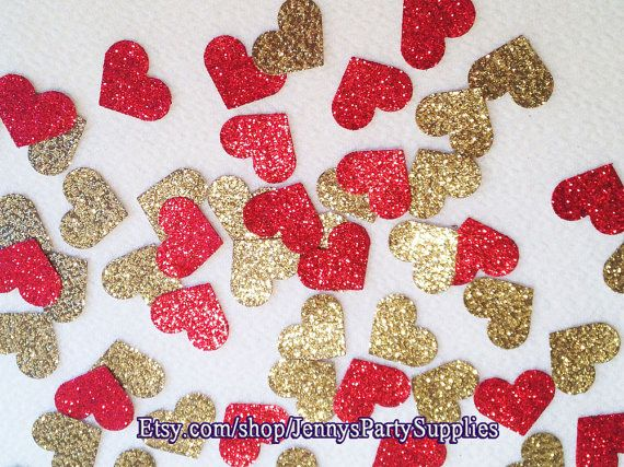 """""""Glitter Heart Confetti"""", choose the combination of colors you would like."""
