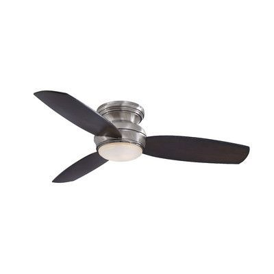 Minka Aire Traditional Concept 3 Blade Flush Mount Ceiling Fan Finish: Pewter with Dark Maple Blades