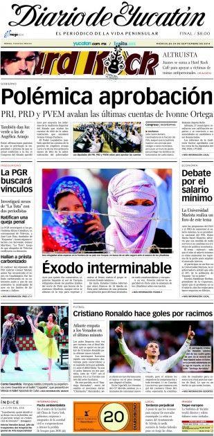 24 / Sep / 2017. Portada | El Diario de Yucatán