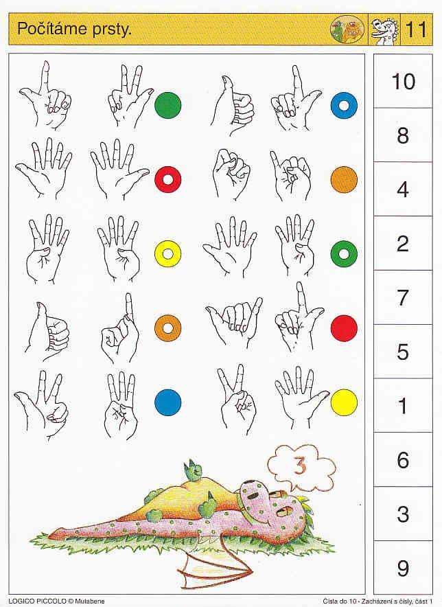 LOGICO PICCOLO | Čísla do 10, část 1 | Didaktické pomůcky a hračky - AMOSEK
