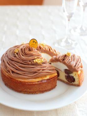 「ベイクドマロンチーズケーキ モンブラン風」みら | お菓子・パンのレシピや作り方【corecle*コレクル】