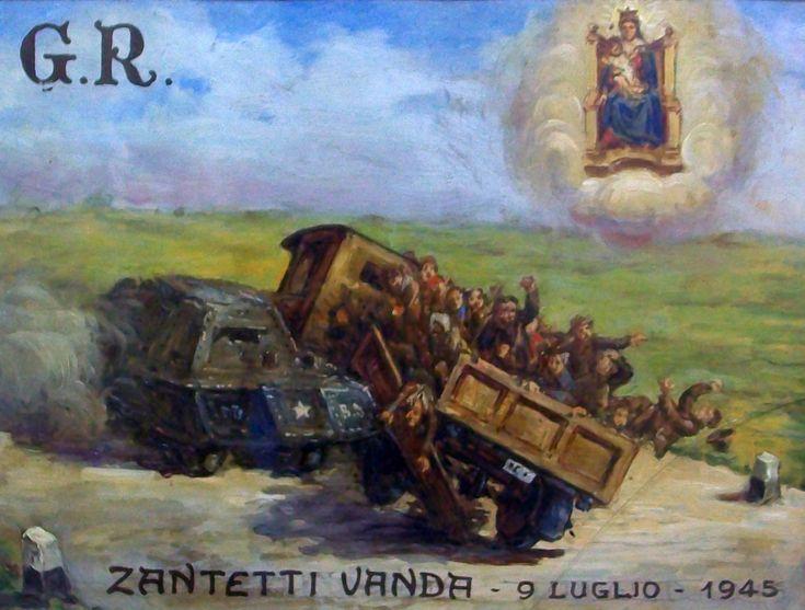 Ex-Voto Madonna del Boden Ornavasso 9 Luglio 1945