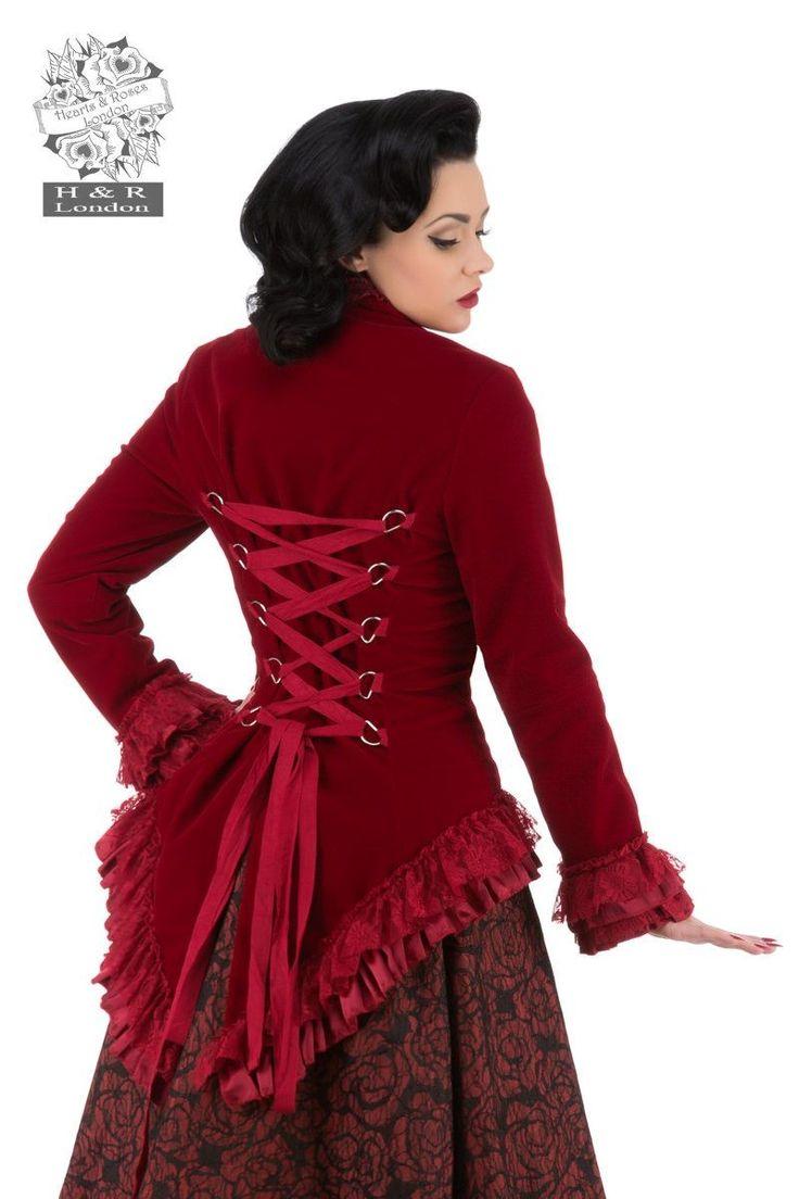 Veste Gothique Victorien Queue de Pie Velours Gloria - Victorien Romantique - Votre Style