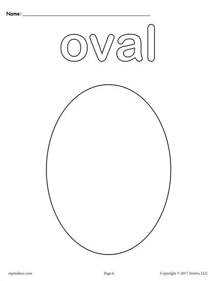 oval coloring pages 12 FREE Shapes Coloring Pages! | Shapes Worksheets, Coloring Pages  oval coloring pages