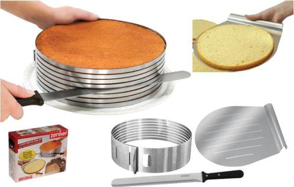 Réaliser des gâteaux à plusieurs étages en confectionnant des couches fines de biscuit ?Nous sommes tous d'accord c'est très difficile à réaliser y compris pour les professionnels. Voila un outil qui vous aidera dans votre quête. Il s'agit d'un kit que l'on adapte sur son gâteau pour façonnage parZenker Le …