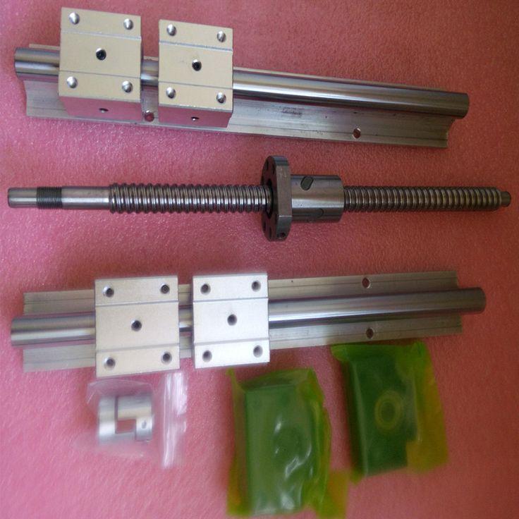 6set SBR16-300/600/800mm linear rail+3set ballscrew RM1605+3set BK/BF12+3pcs nut bracket+3 coupler CNC set #Affiliate