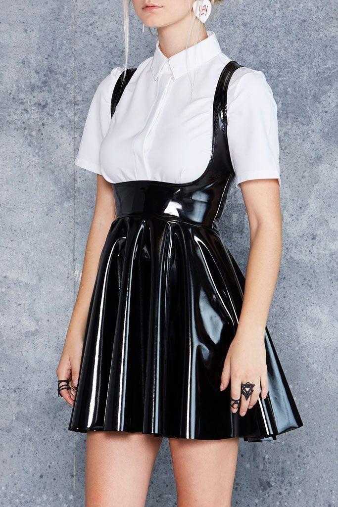 XS-XL Latex Rubber Designer Pencil Skirt William Wilde