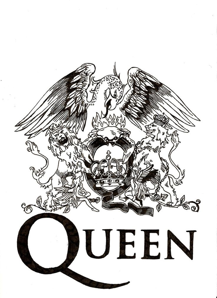 with watercolour spalshes ----Queen logo. Genial and not that simply