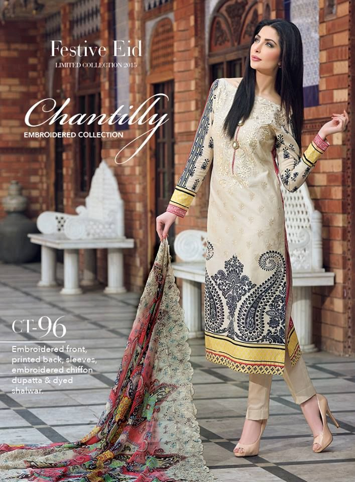 GulAhmed Chantilly de Chiffon Collection From Eid Festive 2015