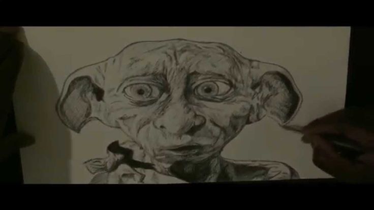Pen Drawing Of Dobby From Harry Potter Freehand  Subscribe for more ART!!!  www.youtube.com/demoose21