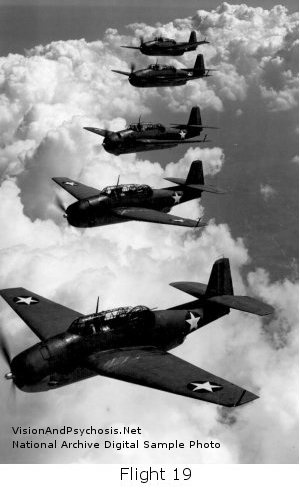 One of the most famous Bermuda Triangle mysteries are the disappearing planes of Flight 19 on Dec 5,1945 ...althought there is a theory they might have disappeared over the Okefenokee Swamp of Georgia