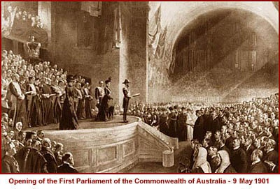 Opening of the First Parliament of the Commonwealth of Australia - 9 May 1901