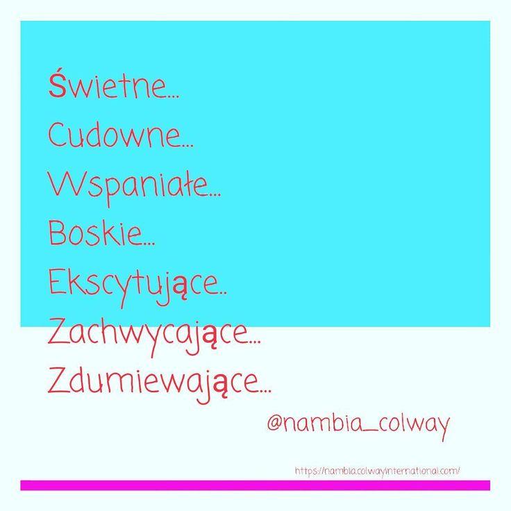 Wzmacniające afirmacje #nambia #afirmacje